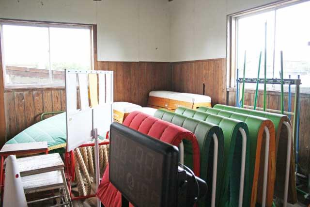体育館器具庫とその周辺の床上げ【関連知識】